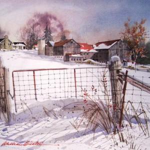 William Biddle - Winter Scene